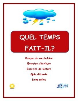 Introductory unit for Weather in French
