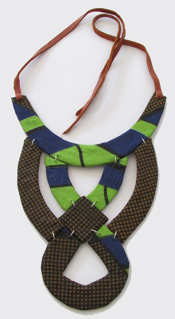 Fundi unique handcrafted African ankara fabric fashion necklace - Modern…