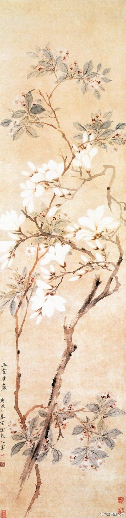 "Chinese brush painting - ""Flowers"""