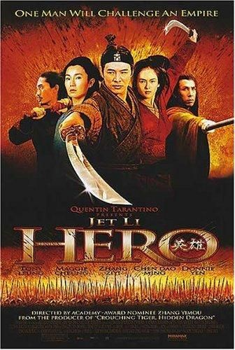 Directed by Yimou Zhang.  With Jet Li, Tony Chiu Wai Leung, Maggie Cheung, Ziyi Zhang. A defense officer, Nameless, was summoned by the King of Qin regarding his success of terminating three warriors.