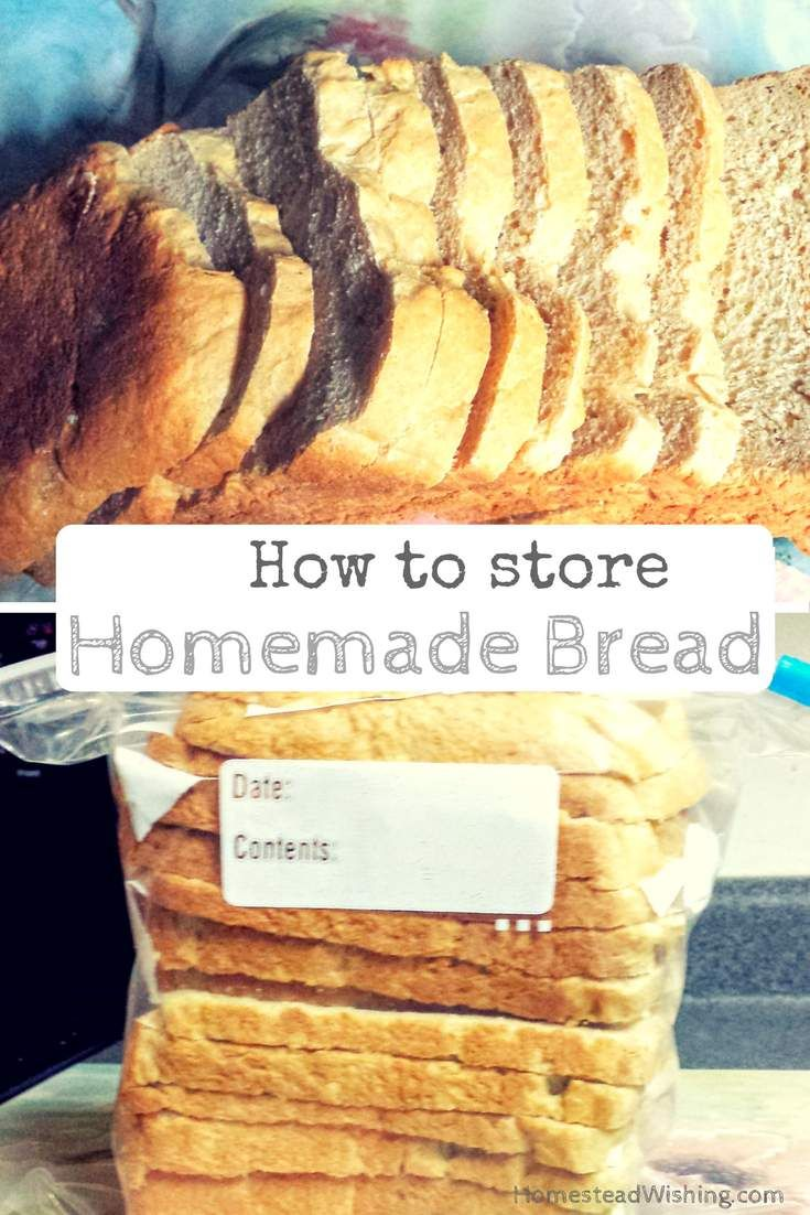 How to store homemade bread. It gets stale very quickly. So how do you keep it fresh? Check out the post now to see my quick tips for storing bread.
