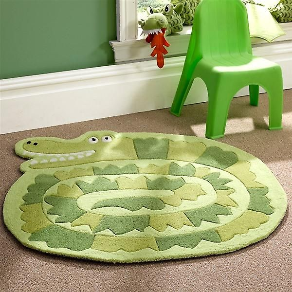Flair Kiddy Play Crocodile Green Childrens Rug 90x90cm - https://www.fruugo.co.uk/kiddy-play-crocodile-green-childrens-rug-90x90cm/p-4334989