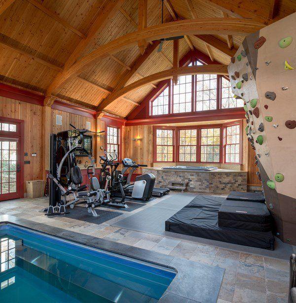 indoor rock climbing wall design ideas home gym indoor pool ideas - Home Rock Climbing Wall Design