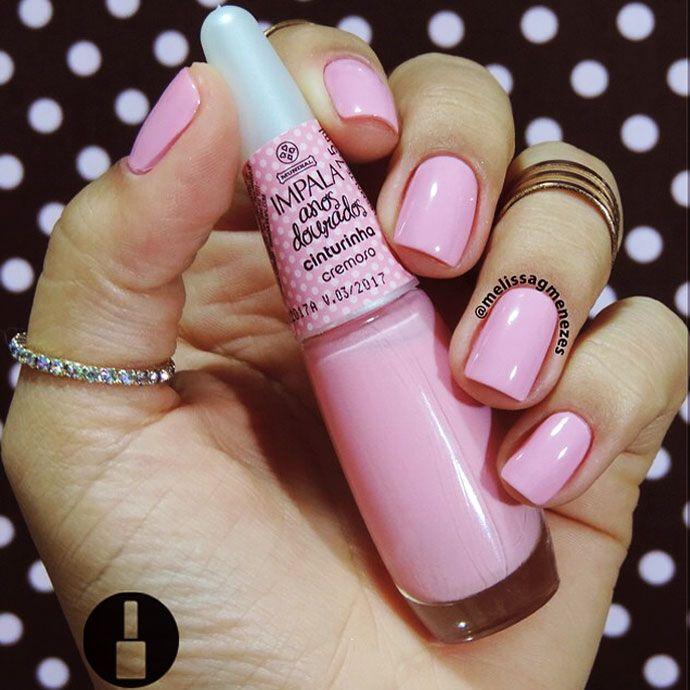 Dica de esmalte rosa similar ao da Giovanna Ewbank