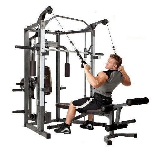 Home Gym Equipment Workout Weights Exercise Machine Adjustable Bench All In One #Marcy