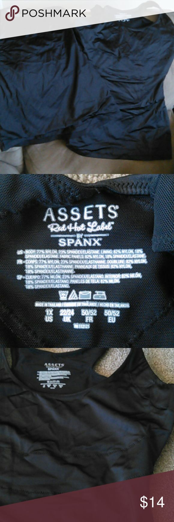 Two - Assets by Spanx You will receive barely worn in great condition. Both black 1X Assets Red Hot Label by Spanx Assets By Spanx Intimates & Sleepwear Shapewear