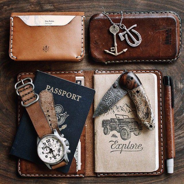 Cas De Passeport En Cuir - Tranches Exotiques Bio Par Vida Vida bKLvxpj