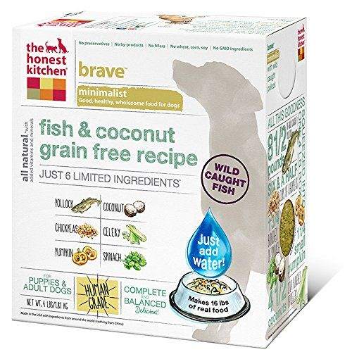 The Honest Kitchen Brave Grain Free Dog Food - Dehydrated Minimalist Limited Ingredient Dog Food, Fish