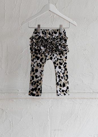 Ruffle Leggings - Leopard