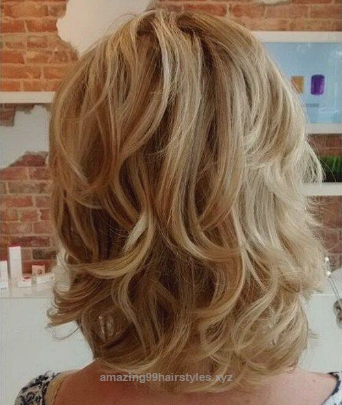 Look Over This Multiple pronounced layers are lovely for shoulder-length shags. Add in some waves with a large barrel curling iron to complete this sassy and fun style.  The post  Multiple pronounced  ..