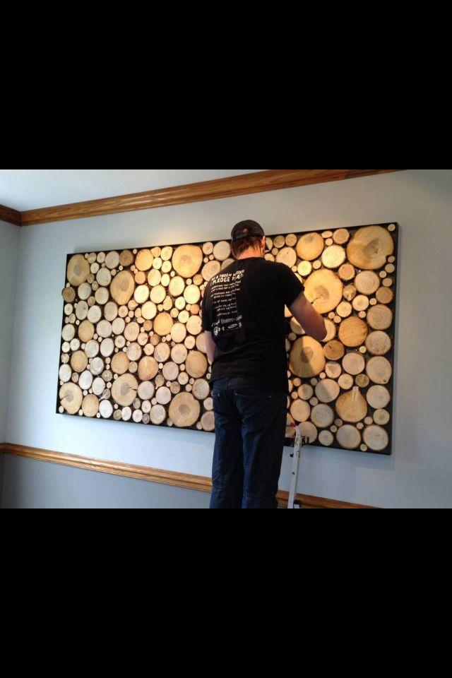 Best 25 Log Wall Ideas On Pinterest Log Table Man Cave