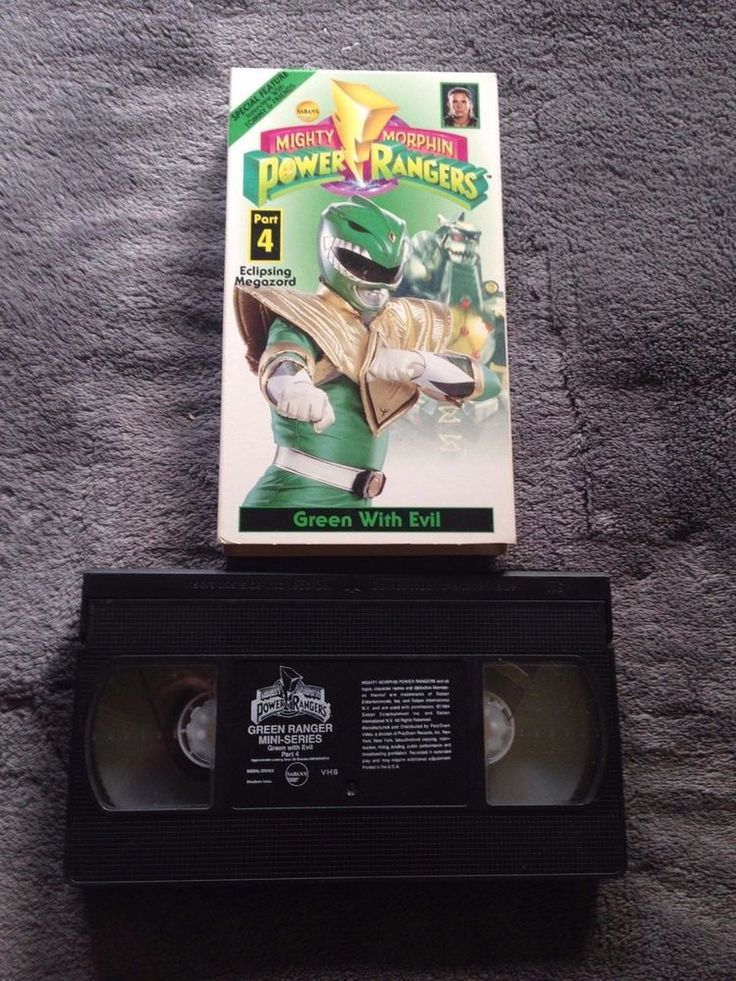 Mighty Morphin Power Rangers / Green with Evil / Part 4- VHS Video Tape