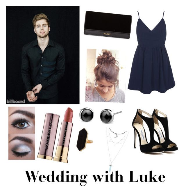 Wedding with Luke by sabrina-carreiro on Polyvore featuring polyvore, fashion, style, Glamorous, Balmain, Jaeger, Urban Decay and clothing