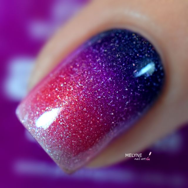 Gradient nails with Muse, Allure, Electric Dream and Grace by @picturepolish + TUTORIAL