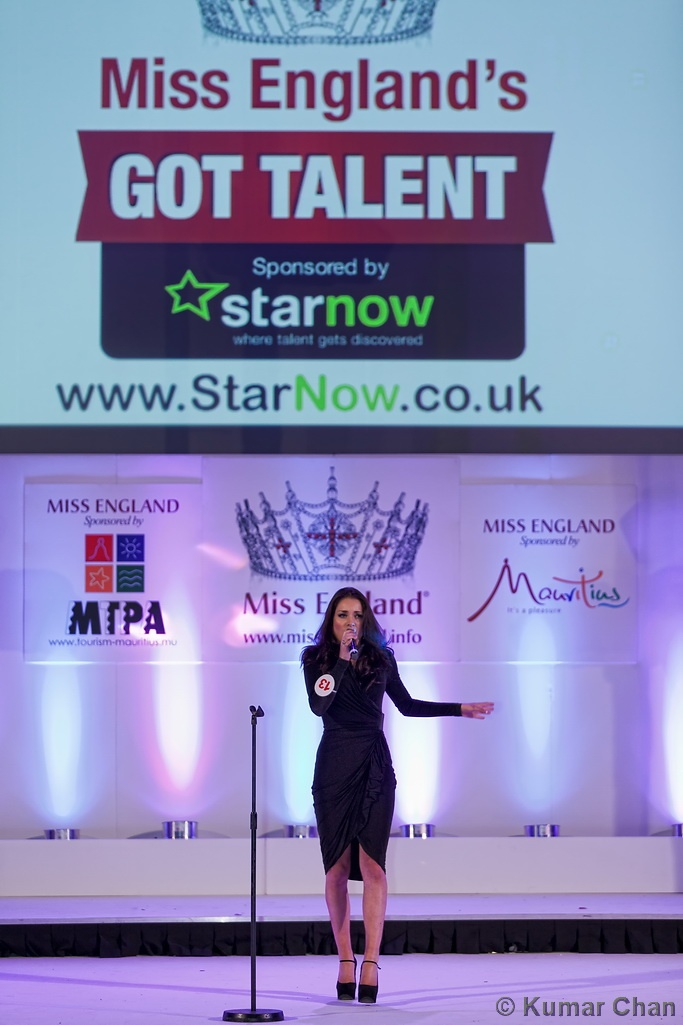 Alicia Caley competing in Miss England's Got Talent sponsored by StarNow at Miss England 2012.