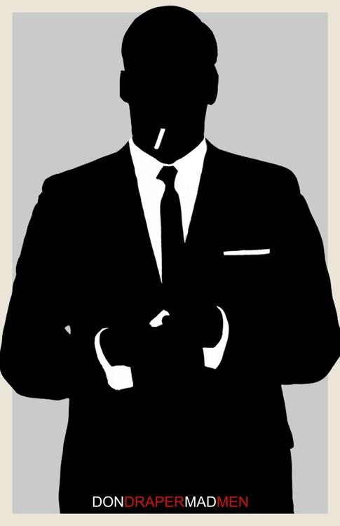 Mad Men 1960's Silhouette, Don Draper, Man, Suite, Personalized, Custom, Custom…