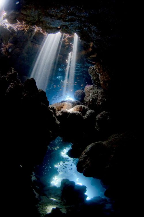Cave ~ Ras Mohammed National Park, Egypt ~ Photography by Pietro Formis