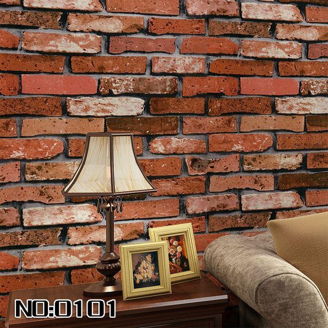 Sala da pranzo disegno 3D parete rotolo di carta di mattoni di pietra sfondo della parete del vinile rotolo di carta da parati moderna per soggiorno murale