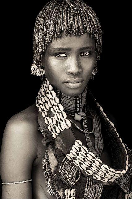 Hamar girl in Ethiopia by German photographer Mario Gerth. via the…