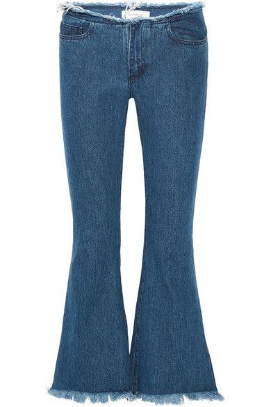 Marques Almeida | Net-A-Porter | Mid-blue denim Concealed zip fastening along front 100% cotton Machine wash Designer wash: Stonewash Imported