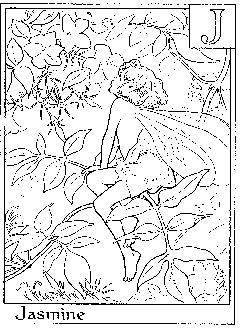 Letter J For Jasmine Flower Fairy Coloring Page Alphabet Pages Fairies Free Online And