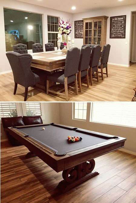 Believe It Or Not This A Pool Table Under All That Wonderful Decor! Dining  Top