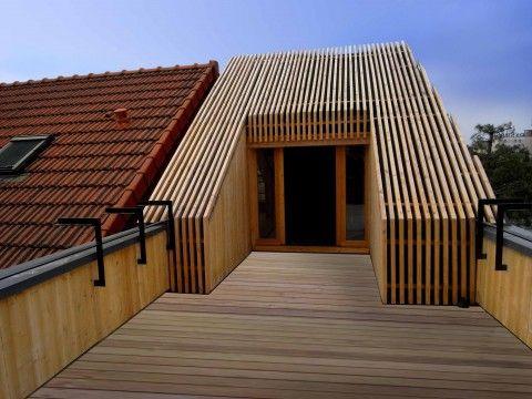 Extension en bois hqe arcueil t design architecture realisation extension - Maison passive design ...