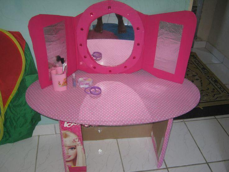 Bianca Hulmann Quarto Da Valentina ~ Penteadeira infantil, por reutiliza??o de papel?o https  www