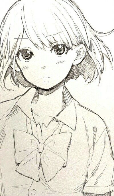 cute anime pencile sketch - Google Search                                                                                                                                                                                 More
