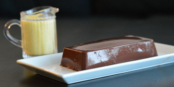 Sjokoladepudding med vaniljesaus - uten sukker!