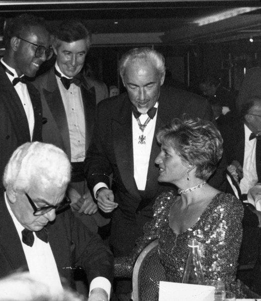 Michael Vincent and Princess Diana.