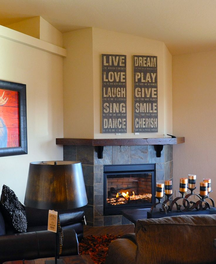 Fireplace in new home for sale in Post Falls, Idaho - built by Monogram Homes. #greensferry