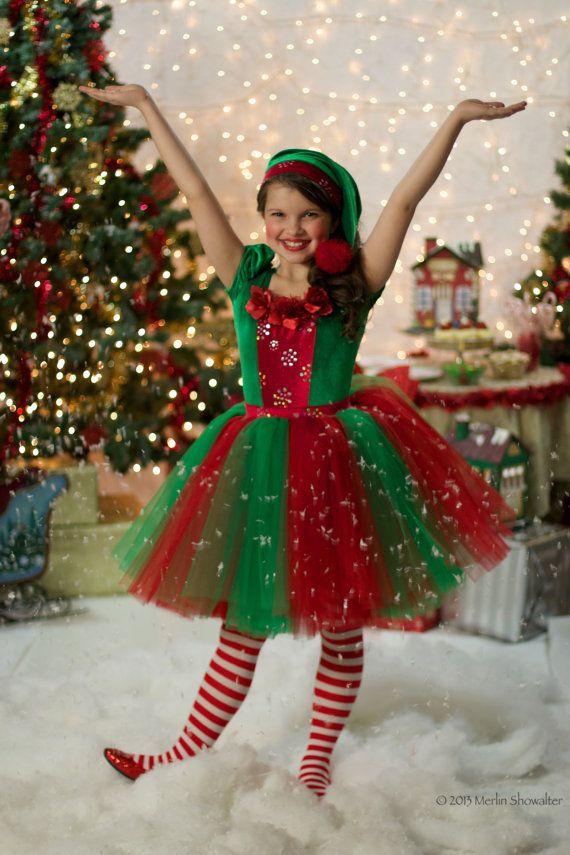 Christmas Elf Tutu Dress Costume  Navidad, Elfos, animación infantil, fiestas, fiesta temática, juegos y canciones navideñas  www.fiestastempranito.com