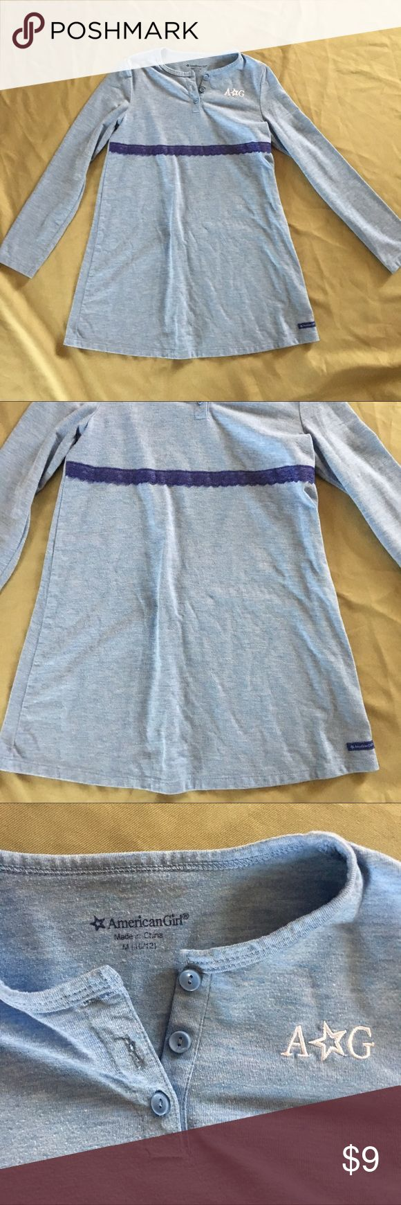 """American Girl Tunic Dress Girls Medium 10 12 Total length measures apx. 26"""". Minimal pilling from normal wash wear. Price firm unless bundled! American Girl Dresses Casual"""