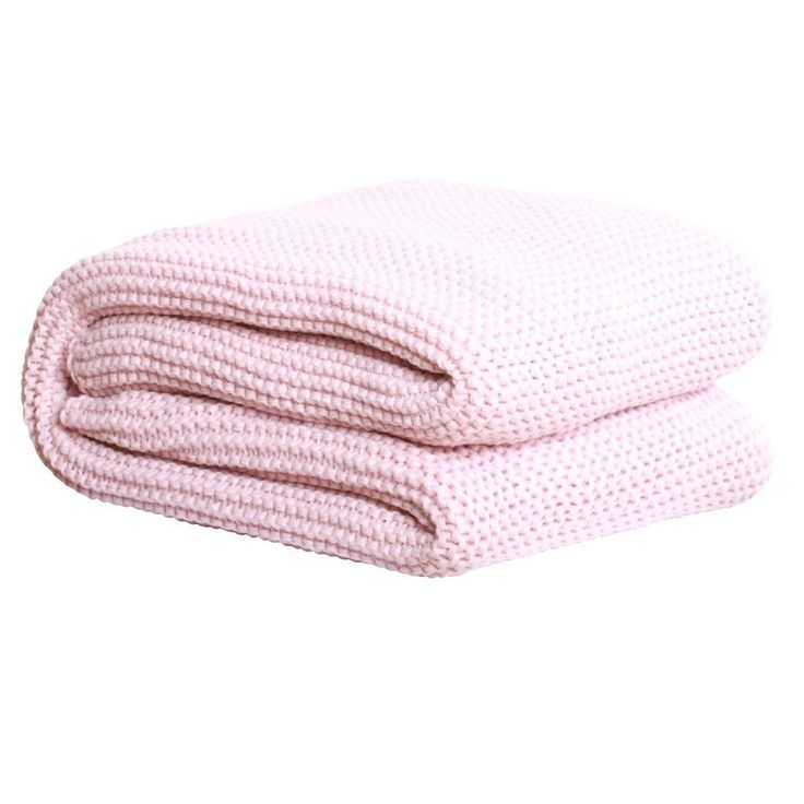 Chunky Knit Throw - Dusty Pink
