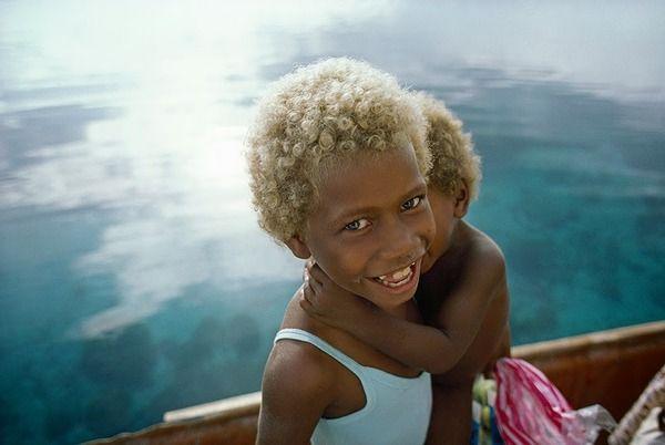 В Меланезии живут удивительные чернокожие блондины блондины, афро, негр, Интересное, статья, наука, познавательно, Меланезия, длиннопост