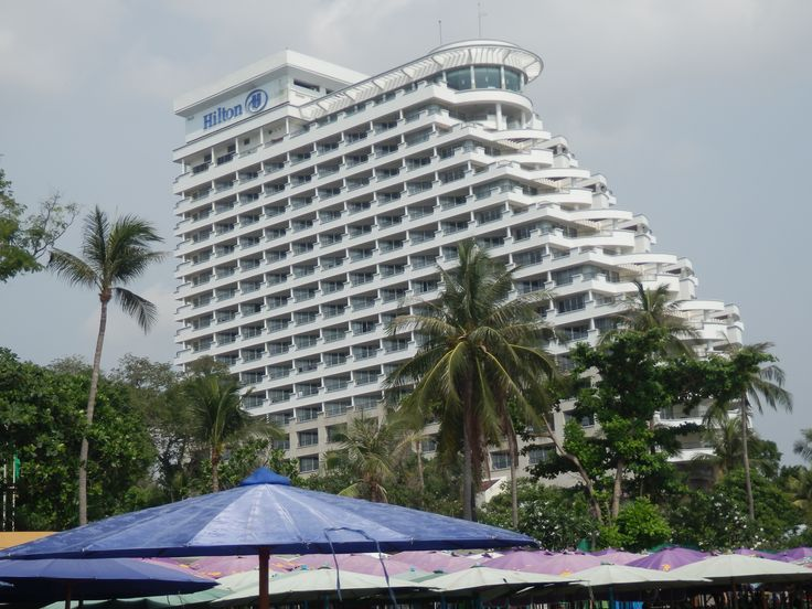View from the beach of the Hilton Hua Hin Resort in Thailand