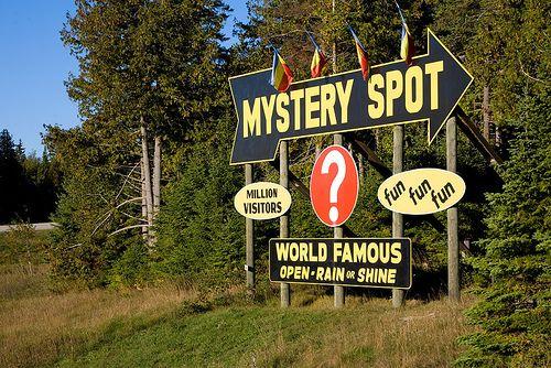 Mystery Spot – Michigan Upper Peninsula Attraction by James Marvin Phelps, via Flickr