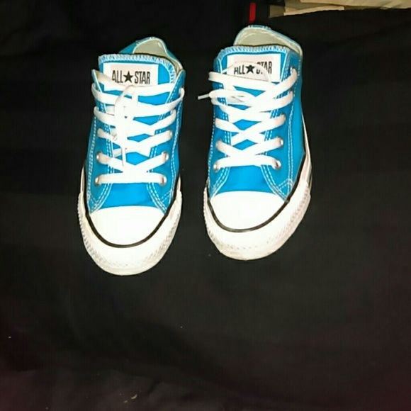 All star converse Blue converse only wore couple times..  size 4 men 6 in women Converse Shoes Sneakers