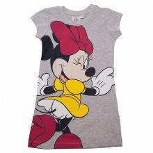 Tricou lung Minnie Mouse - gri