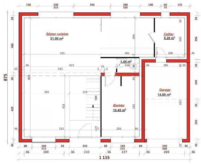 Cette maison contemporaine possède une surface habitable de 137m² répartie sur 2 niveaux. Le rez de chaussée se compose d'un grand salon/séjour/cuisine de 51 m², d'un cellier, d'un bureau pouvant se transformer en chambre d'amis, des toilettes indépendantes et d'un garage. A l'étage, vous ...