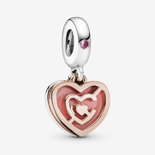 Charm Pendant Labyrinthe Cœur Rose | Pandora FR | Bijoux en métal ...