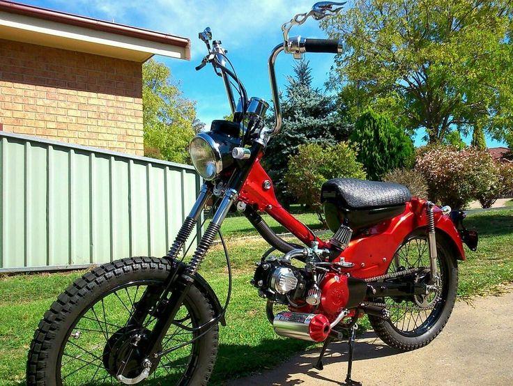 honda ct110 motorcycle postie bike chopper bobber cruiser road bike