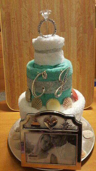 Wedding Shower Cake From Towels