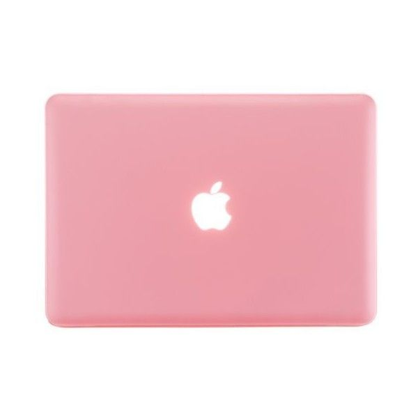 Kuzy - PINK 13-inch Ultra Slim Rubberized Hard Case Light Weight Matte... (965 RUB) ❤ liked on Polyvore