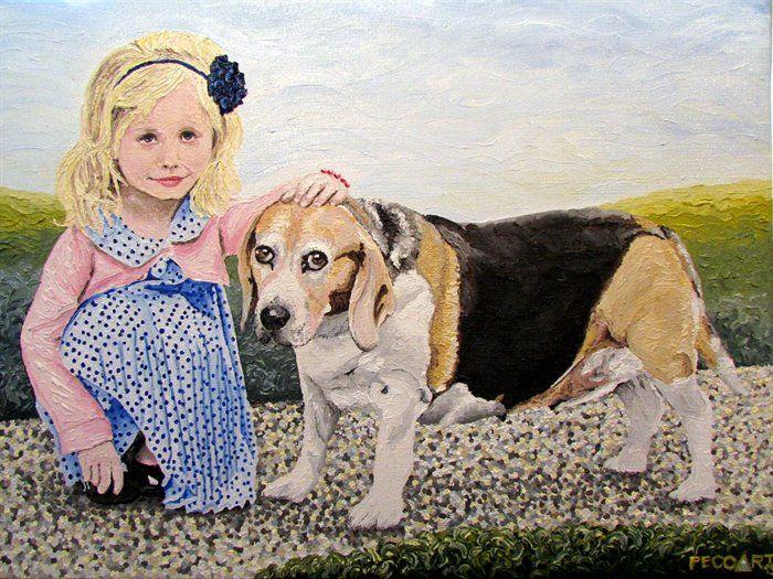 Nela&Sendy by Peco Art ... Oil on canvas, 40x30cm ...