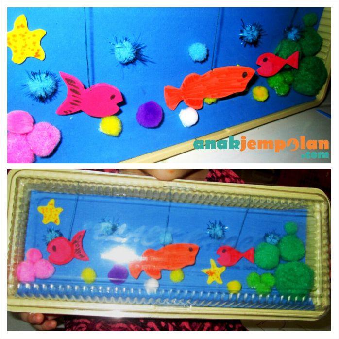 Aquarium dari Kotak Kue