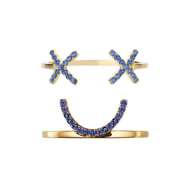 #Blue #stacking #rings for #style and #edge