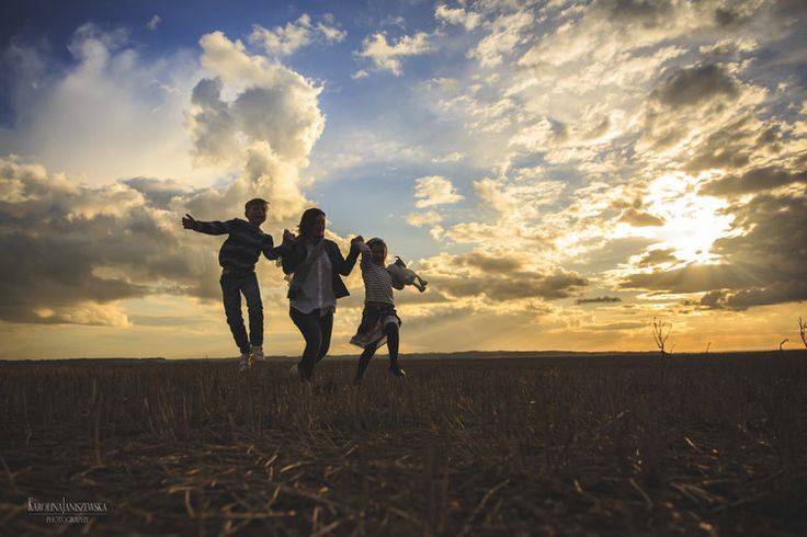Family, photography, backlight,