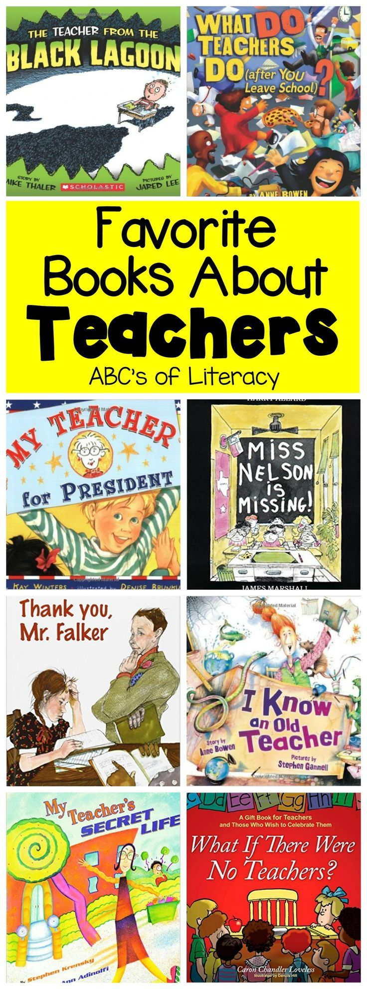 From thoughtful books to silly stories, your students will love to read these 15 Read Aloud Books About Teachers over and over again.